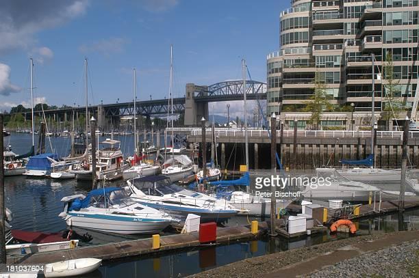 Vancouver, Granville-Brücke, Kanada, Canada, Nordamerika, Reise, Brücke, Hafen, Boote, ,