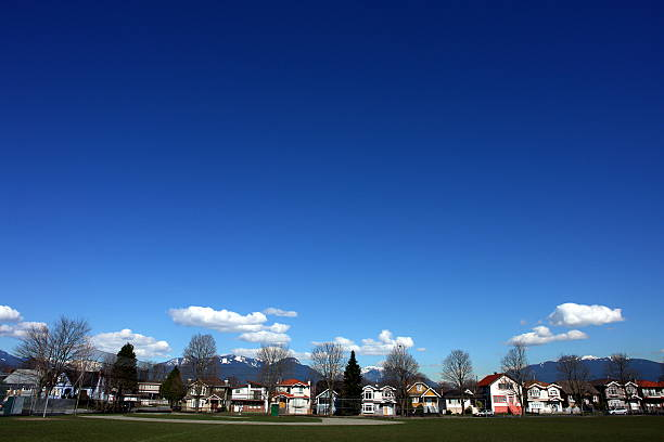 Vancouver Neighborhood Under A Big Blue Sky