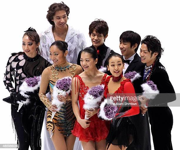 Vancouver Olympic Japan figure skating team members Cathy Reed Miki Ando Akiko Suzuki and Mao Asada Chris Reed Takahiko Kozuka Nobunari Oda and...