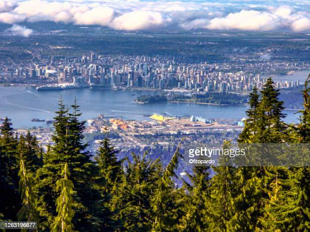 vancouver panorama from mount fromme - washington state stock pictures, royalty-free photos & images