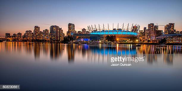 CONTENT] Vancouver skyline across False Creek from Science World