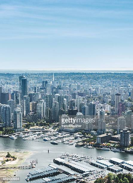 Vancouver skyline aerial view