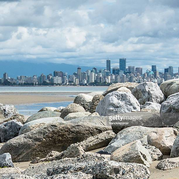 Vancouver skyline from the beach