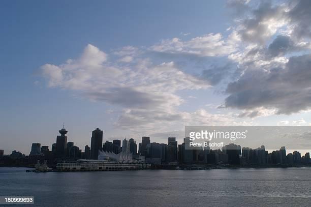 Vancouver, Skyline, Kanada, Canada, Nordamerika, Reise, Hochhäuser, Himmel, Wolken, Wasser, ,