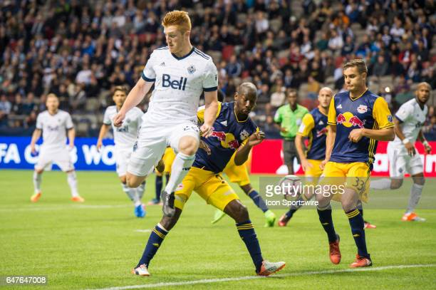Vancouver Whitecaps defender Tim Parker kicks the ball behind him during the CONCACAF Champions League Quarterfinal game between the Vancouver...