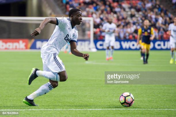 Vancouver Whitecaps forward Alphonso Davies during the CONCACAF Champions League Quarterfinal game between the Vancouver Whitecaps and the New York...