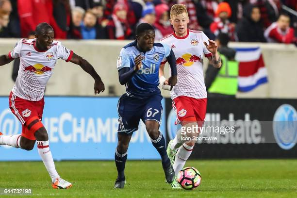 Vancouver Whitecaps forward Alphonso Davies during the second half of the CONCACAF Champions League Quarterfinal game between the Vancouver Whitecaps...