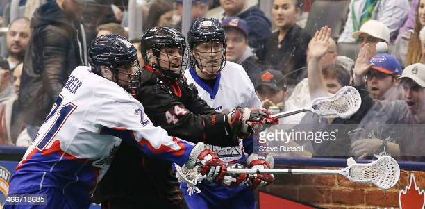 TORONTO ON JANUARY 31 Vancouver's Nick Weiss reaches for the ball as the Toronto Rock beat the Vancouver Stealth 1712 in Major League Lacrosse action...