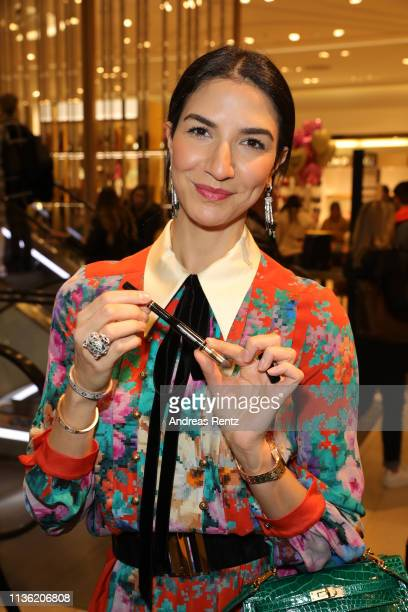 Vanda Reppegather attends the 'Easy to pack brushes' launch by Laila Hamidi at Breuninger on March 16 2019 in Duesseldorf Germany