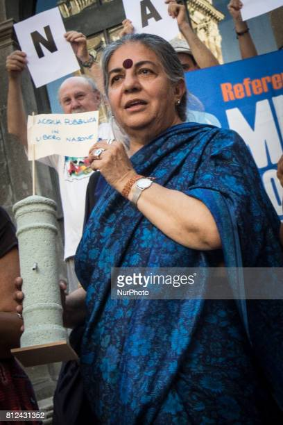 Vandana Shiva during Flash Mob Earth Associations gather to defend the public good water and to ask the mayor of Rome Virginia Raggi administration...