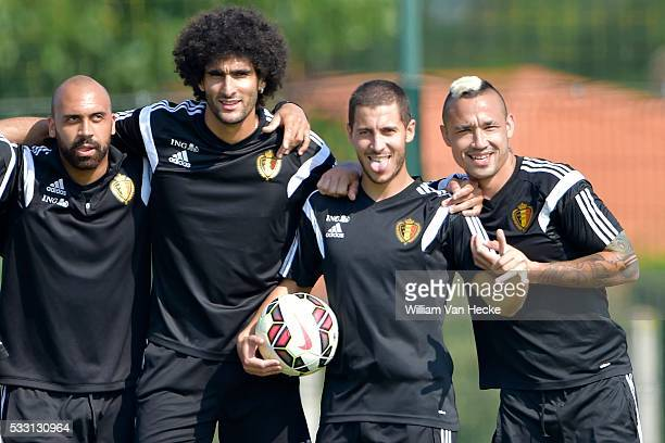 Vanden Borre Anthony of RSC Anderlecht Fellaini Marouane of Manchester United FC Hazard Eden of Chelsea FC and Nainggolan Radja of AS Roma pictured...
