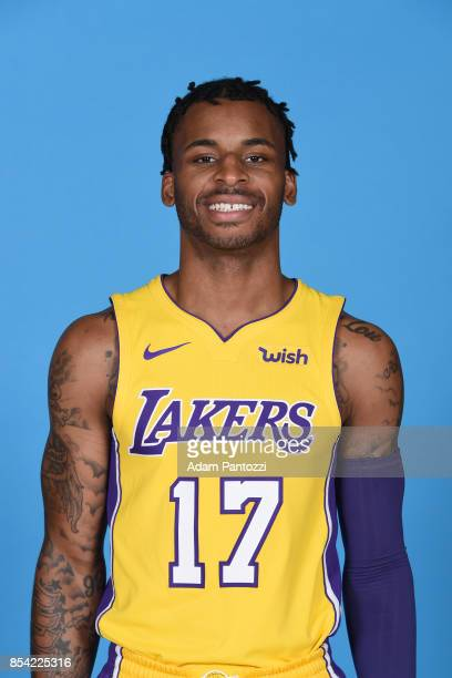Vander Blue of the Los Angeles Lakers poses for a head shot during media day at UCLA Health Training Center on September 25 2017 in El Segundo...