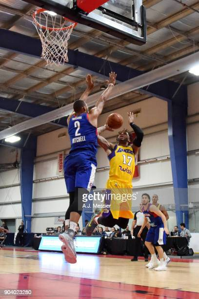 Vander Blue of the South Bay Lakers shoots the ball during the game against the Long Island Nets at the NBA G League Showcase Game 11 on January 11...