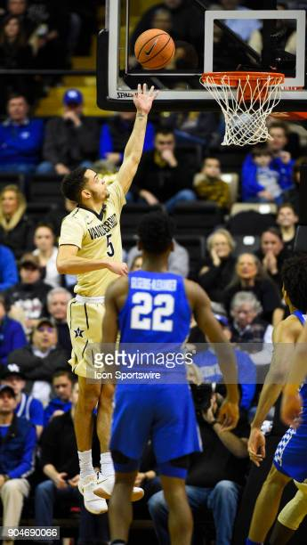 Vanderbilt Commodores guard Matthew FisherDavis gets a easy lay up during the first half between the Kentucky Wildcats and the Vanderbilt Commodores...