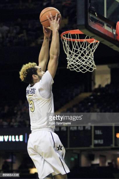 Vanderbilt Commodores guard Matthew FisherDavis scores on a break away dunk in the first half of a nonconference game between the Vanderbilt...