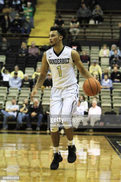 Vanderbilt Commodores guard Payton Willis brings the ball down the floor during a nonconference game between the Vanderbilt Commodores and Alcorn...