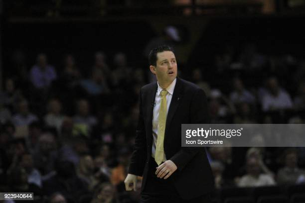 Vanderbilt Commodores head coach Bryce Drew looks on from the sideline in the first half of a Southeastern Conference game between the Vanderbilt...