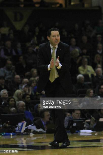Vanderbilt Commodores head coach Bryce Drew on the sidelines in the first half of a game between the Vanderbilt Commodores and No 24 Mississippi...