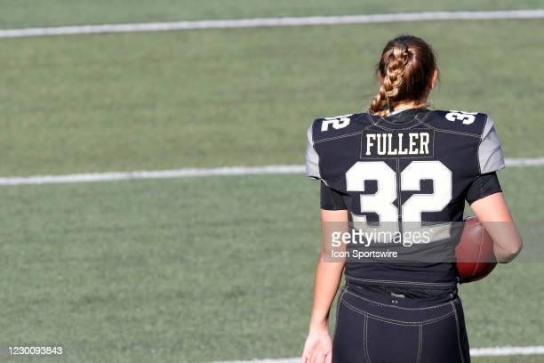 Vanderbilt Commodores place kicker Sarah Fuller prior to a game between the Vanderbilt Commodores and Tennessee Volunteers, December 12, 2020 at...