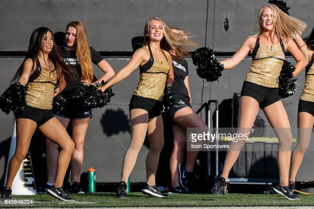 Vanderbilt dance team members during a college football game between the Vanderbilt Commodores and the Alabama AM Bulldogs on September 9 2017 at...