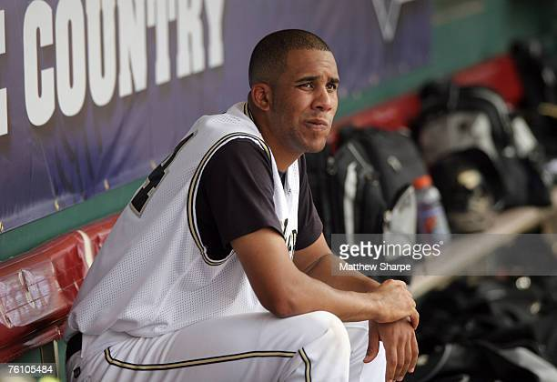 Vanderbilt pitcher David Price sits in the dugout before the final inning in his complete game victory over Mississippi State in the SEC Baseball...