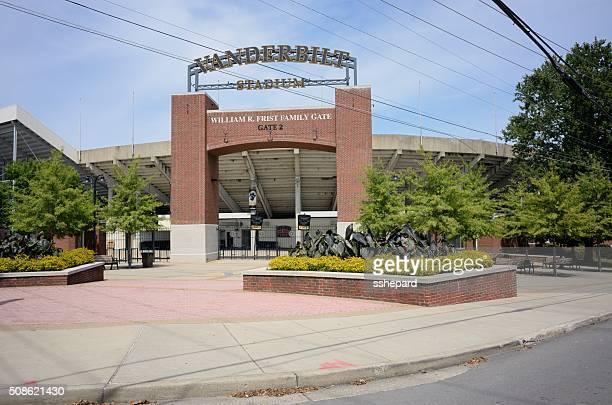 Vanderbilt Stadium Gate 2 entrance with sign.