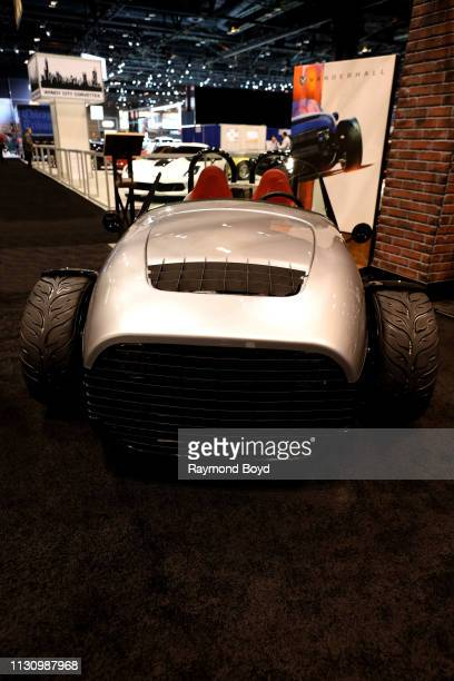 Vanderhall Carmel is on display at the 111th Annual Chicago Auto Show at McCormick Place in Chicago, Illinois on February 8, 2019.