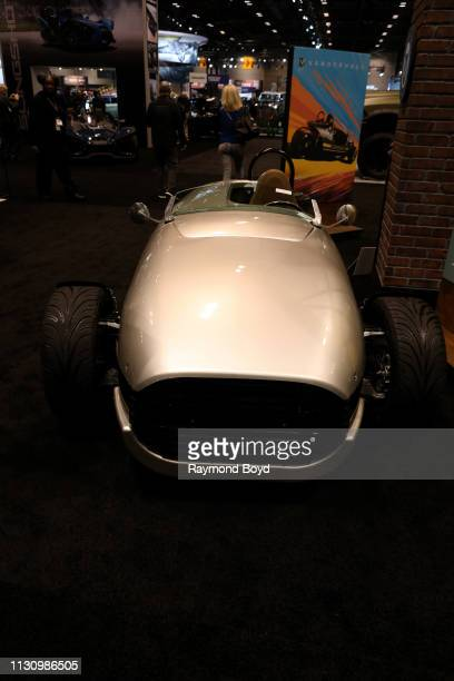 Vanderhall Speedster is on display at the 111th Annual Chicago Auto Show at McCormick Place in Chicago, Illinois on February 8, 2019.
