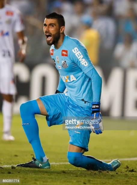 Vanderlei of Santos in action during the match between Santos and Barcelona de Guayaquil for the Copa Bridgestone Libertadores 2017 at Vila Belmiro...