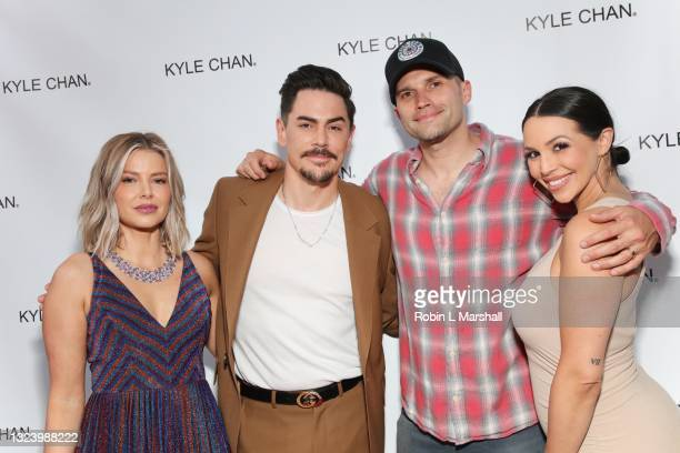 Vanderpump Rules cast Ariana Madix, Tom Sandoval, Tom Schwartz and Scheana Marie attend Kyle Chan's retail store opening at Kyle Chan Design on June...