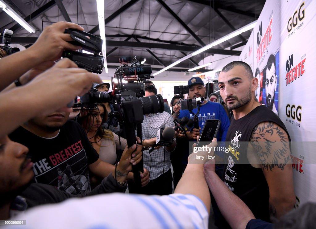Gennady Golovkin & Vanes Martirosyan Media Workout