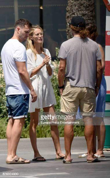 Vanesa Lorenzo and Carles Puyol are seen on Ibiza go shopping on August 3 2017 in Ibiza Spain
