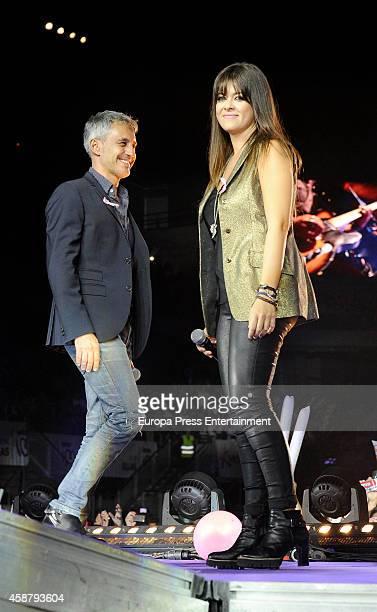 Vanesa Martin and Sergio Dalma attend 'Cadena 100 Por Ellas' concert on November 7 2014 in Madrid Spain