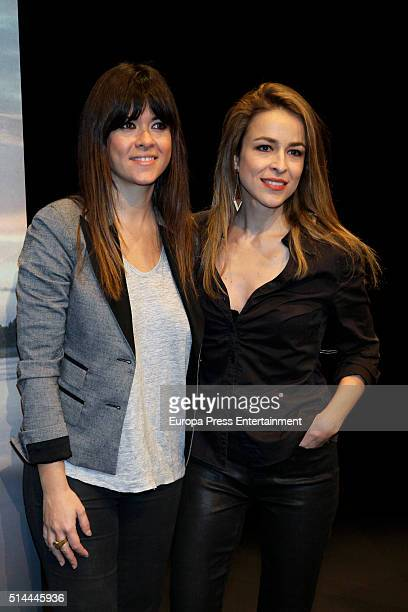 Vanesa Martin and Silvia Abascal attend first poem book 'Mujer Oceano' written by Vanesa Martin on March 8 2016 in Madrid Spain
