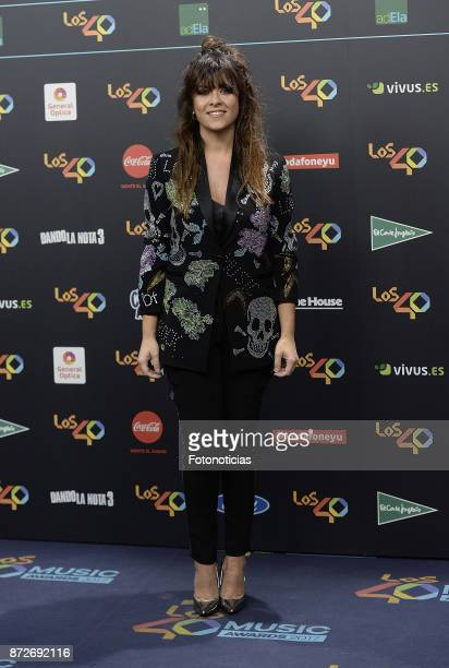 Vanesa Martin attends 'Los 40 Music Awards' photocall at the WiZink Center on November 10 2017 in Madrid Spain