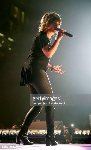 Vanesa Martin performs during 'La Noche de Cadena 100' at the Palacio de los Deportes on March 25 2017 in Madrid Spain
