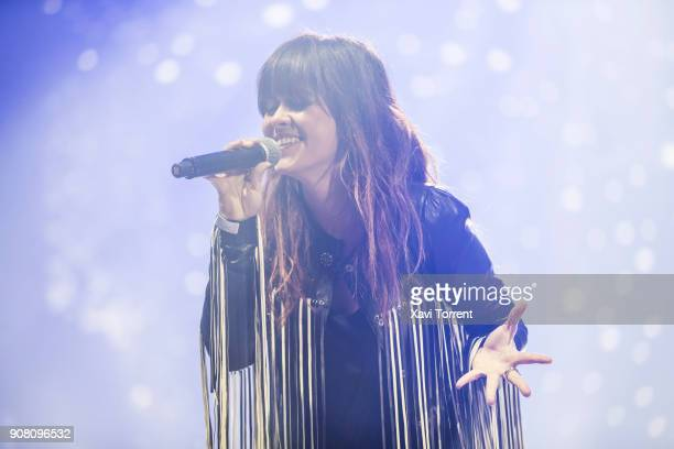 Vanesa Martin performs in concert at Palau Sant Jordi during the Festival Millenni on January 20 2018 in Barcelona Spain