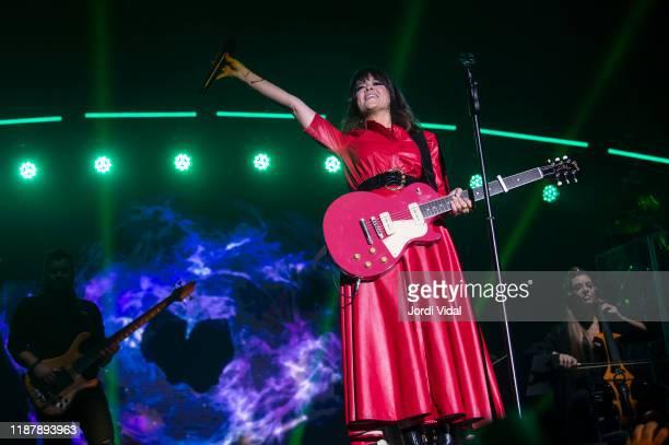 Vanesa Martin performs on stage during Festival del Millenni at Palau Sant Jordi on November 15 2019 in Barcelona Spain