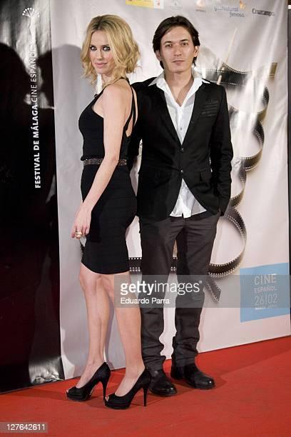Vanesa Romero and Alberto Caballero attend s Malaga Film Festival party photocall at Casa de America on March 1, 2011 in Madrid, Spain.