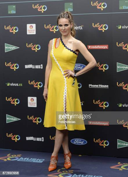 Vanesa Romero attends 'Los 40 Music Awards' photocall at the WiZink Center on November 10 2017 in Madrid Spain
