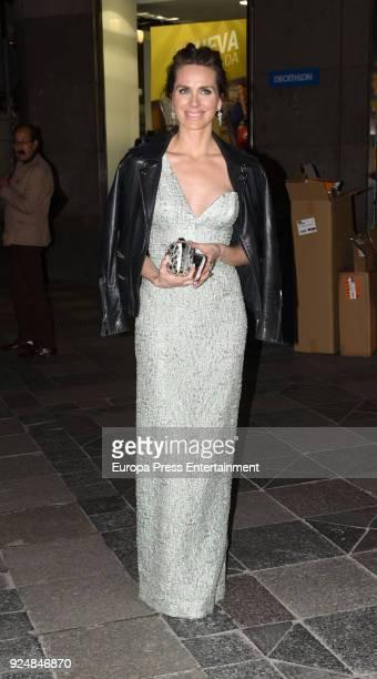 Vanesa Romero is seen arriving at Fotogramas Awards 2018 on February 26 2018 in Madrid Spain