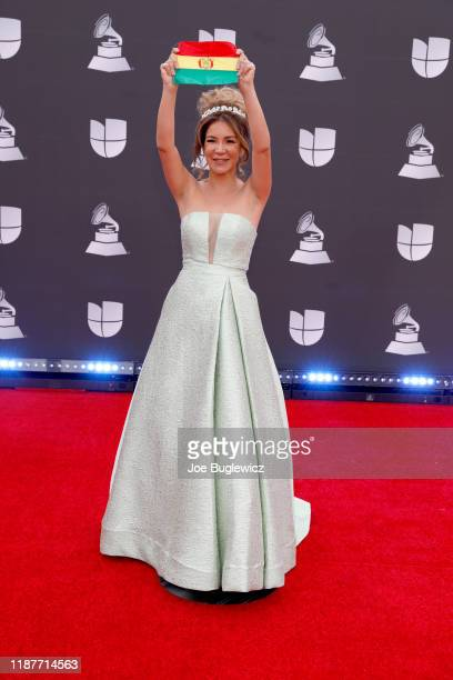 Vanessa Añez attends the 20th annual Latin GRAMMY Awards at MGM Grand Garden Arena on November 14 2019 in Las Vegas Nevada