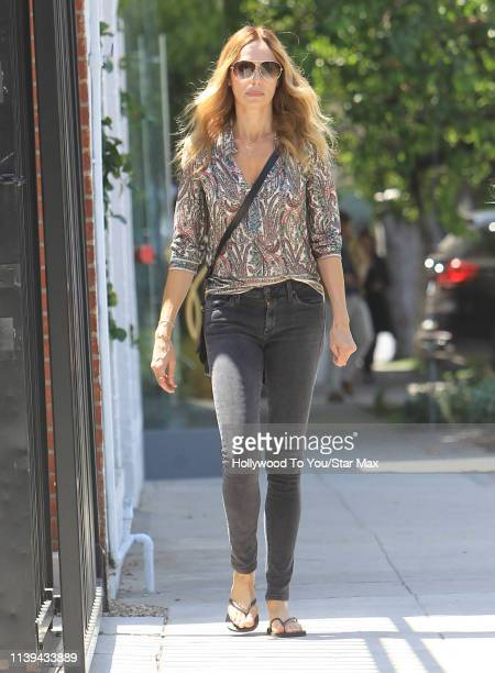 Vanessa Angel is seen on April 25 2019 in Los Angeles California