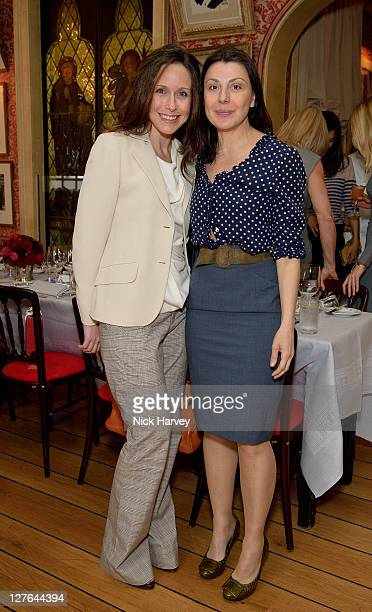 Vanessa Arelle de Peeters and Allegra Donn attend the Roger Vivier Luncheon at Harry's Bar on March 31 2011 in London England