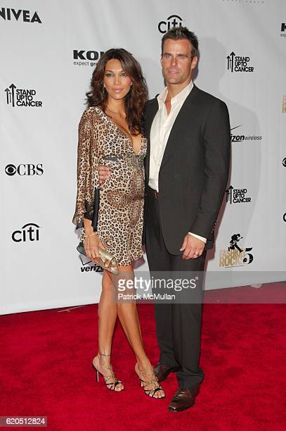 Vanessa Arevalo and Cameron Mathison attend CONDE NAST MEDIA GROUP celebrates Fifth Anniversary of FASHION ROCKS red carpet arrivals at Radio City...