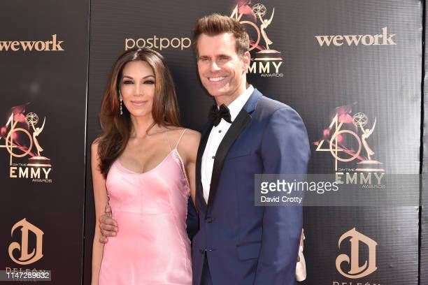 Vanessa Arevalo and Cameron Mathison attend the 46th annual Daytime Emmy Awards at Pasadena Civic Center on May 05 2019 in Pasadena California