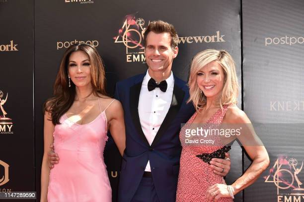 Vanessa Arevalo Cameron Mathison and Debbie Matenopoulos attend the 46th annual Daytime Emmy Awards at Pasadena Civic Center on May 05 2019 in...