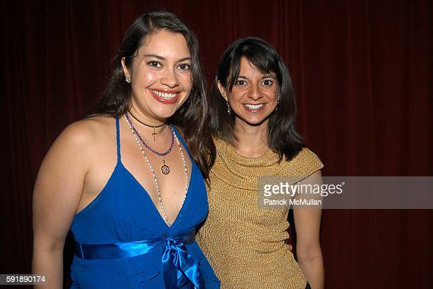 Vanessa Aspillaga and Cathy Areu attend Groundbreaking Latina in Leadership Awards at Hudson Theatre on October 11 2005 in New York City