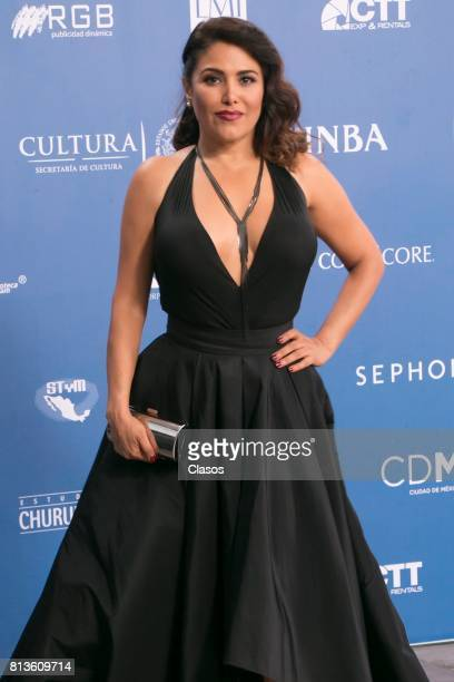 Vanessa Bauche poses during during the 59th Ariel Awards Red Carpet at Palacio de Bellas Artes on July 11 2017 in Mexico City Mexico
