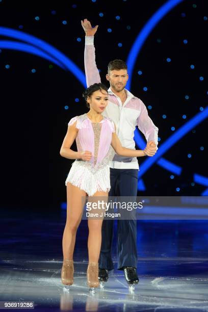 Vanessa Bauer and Jake Quickenden during the Dancing on Ice Live Tour Dress Rehearsal at Wembley Arena on March 22 2018 in London EnglandThe tour...